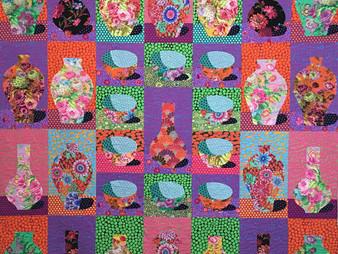 Delfina Guerra Vase and Bowls Quilt