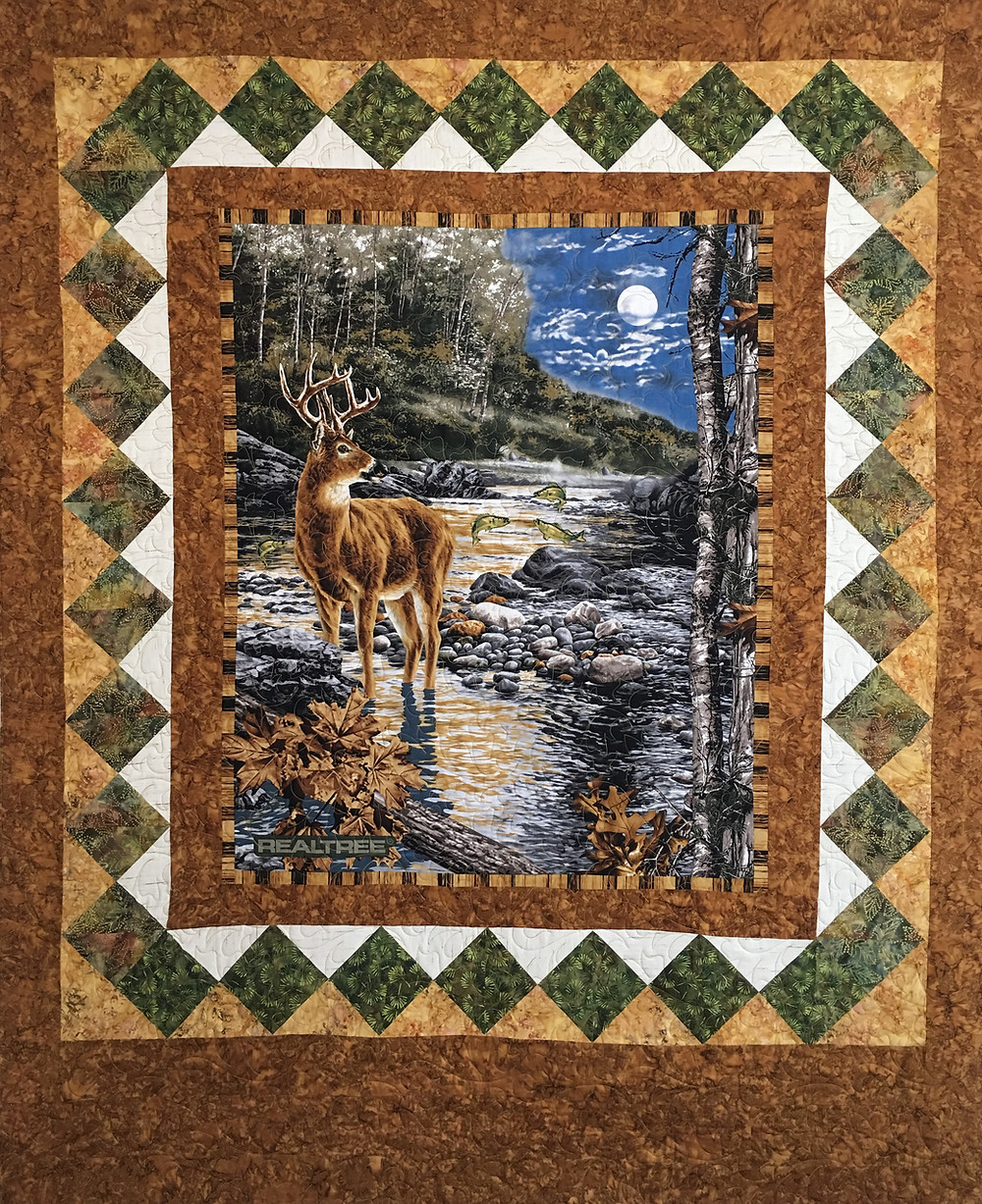 Hunting Quilt for Son by France Godfrey