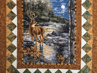France Godfrey Hunting Quilt for Son