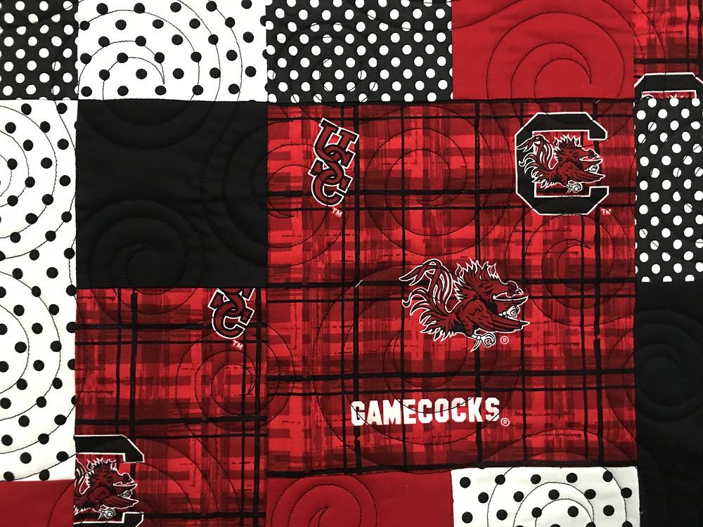 closeup of Anna Carolina College Quilt