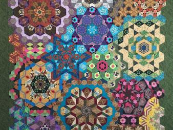 Anita Mester Hand Pieced Hexagon Millefiori Quilt