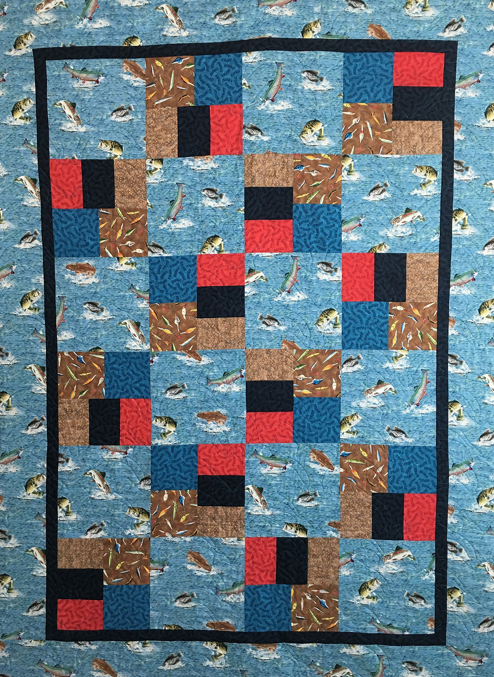 Just can't cut it Fishing Quilt by Joan Salesman