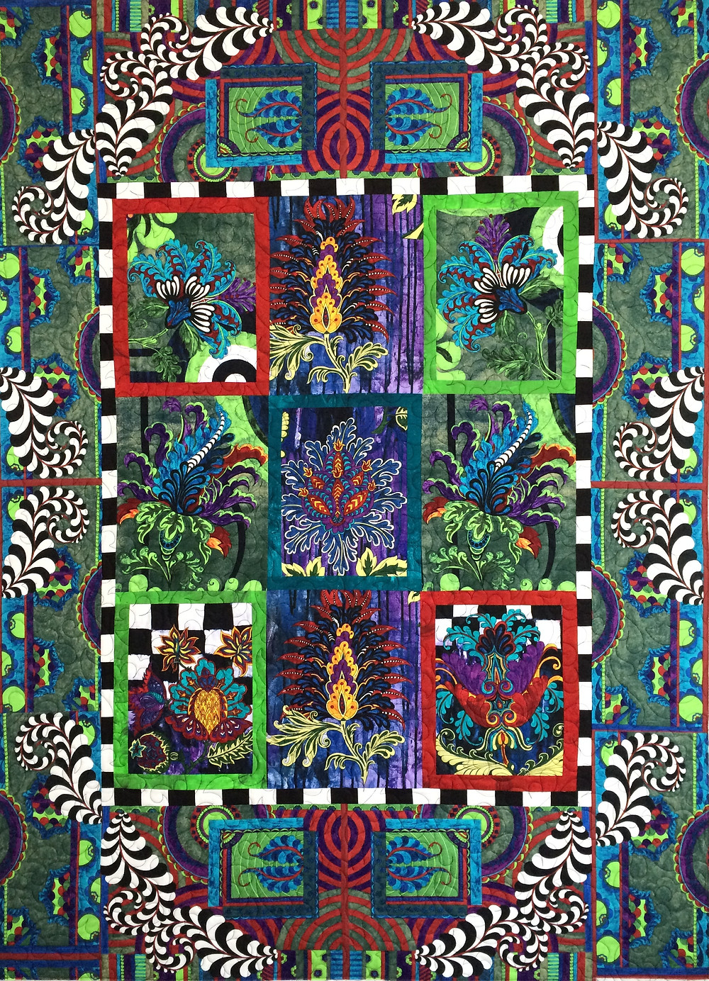 Beth Bold Flowers Quilt