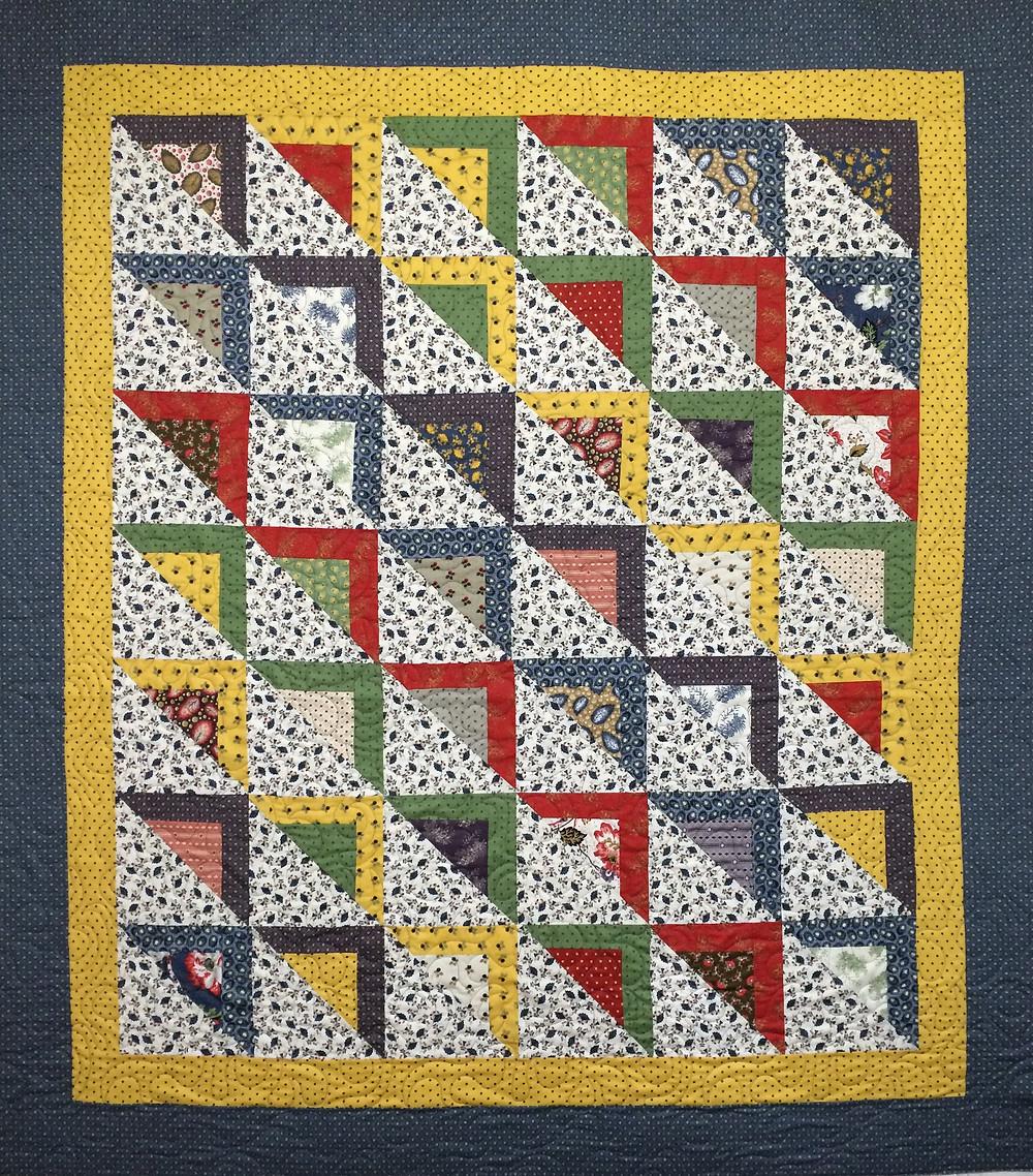 Susan Half Square Triangles Quilt