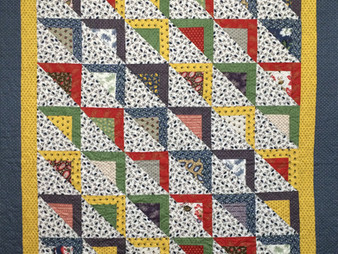 Susan Singer Half Square Trangles on the Diagonal Quilt