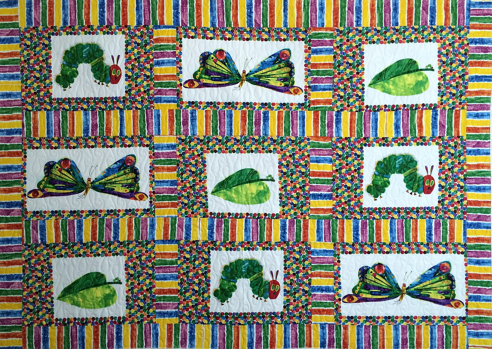 Nancy Thornton's Very hungry Caterpillar quilt