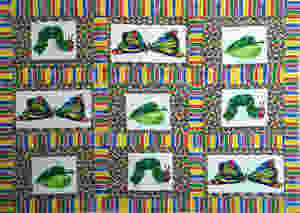 Nancy Thornton's Very hungry Caterpillar quilt
