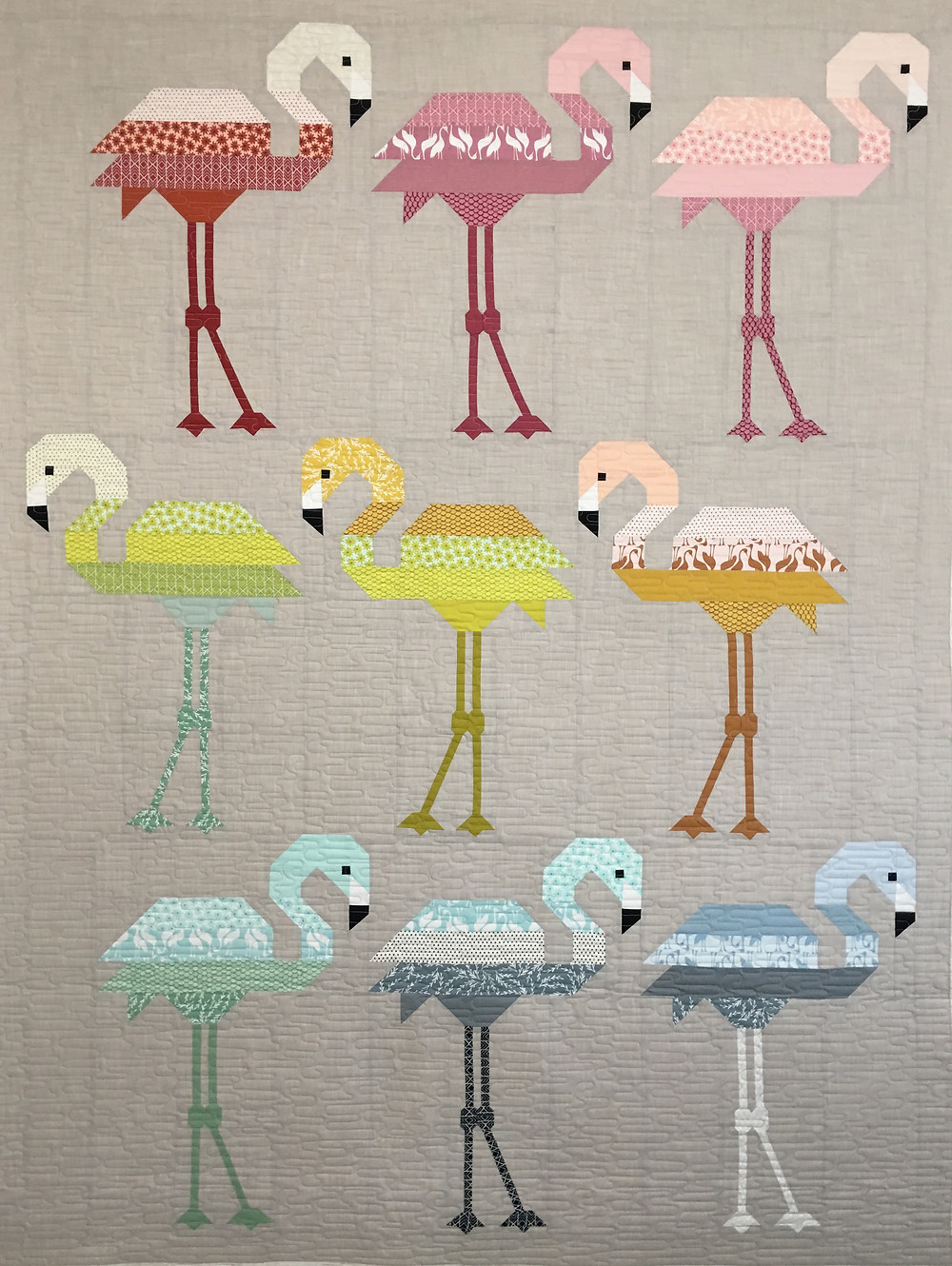 Flamingo Quilt by Delfina Guerra