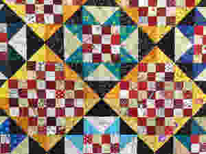 Stars quilting pattern on Winston Ways Quilt by Kathryn Bailey