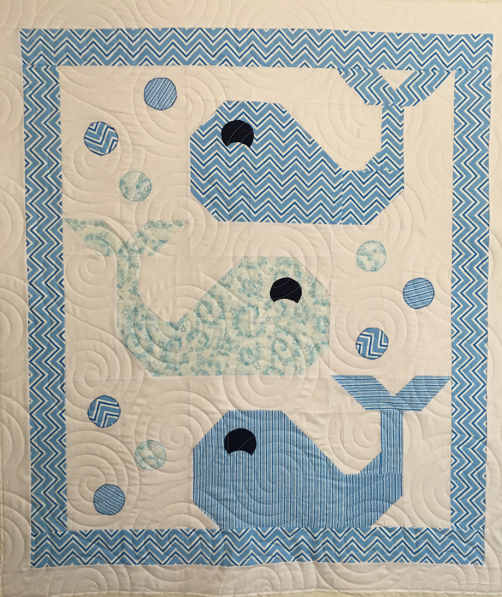 Blue Whale Quilt by Jocelyn Robinson