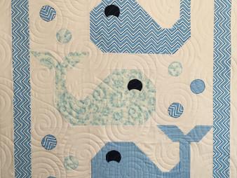 Jocelyn Robinson Blue Whales Quilt