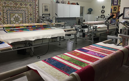 3  longarm quilting machines in MyLongarm quilting studio