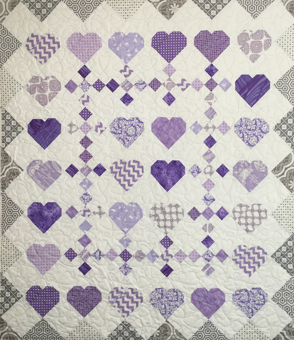 Lisa Purple Hearts Quilt