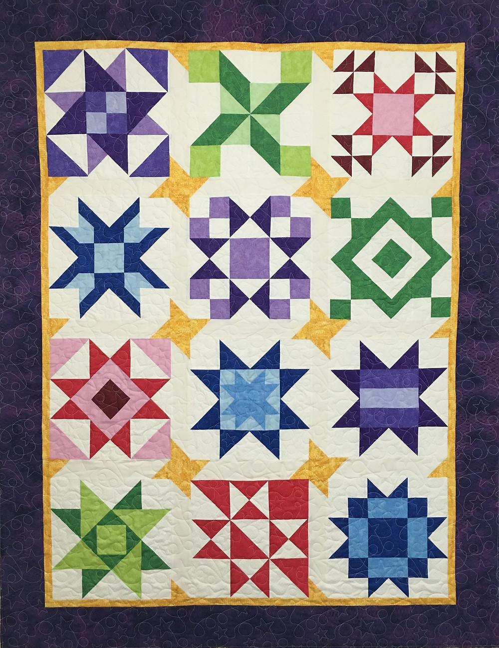 Mary Starry Wonders Block of the Month Quilt