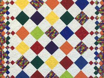 Roxanne Darnell Diamond Patchwork Quilt
