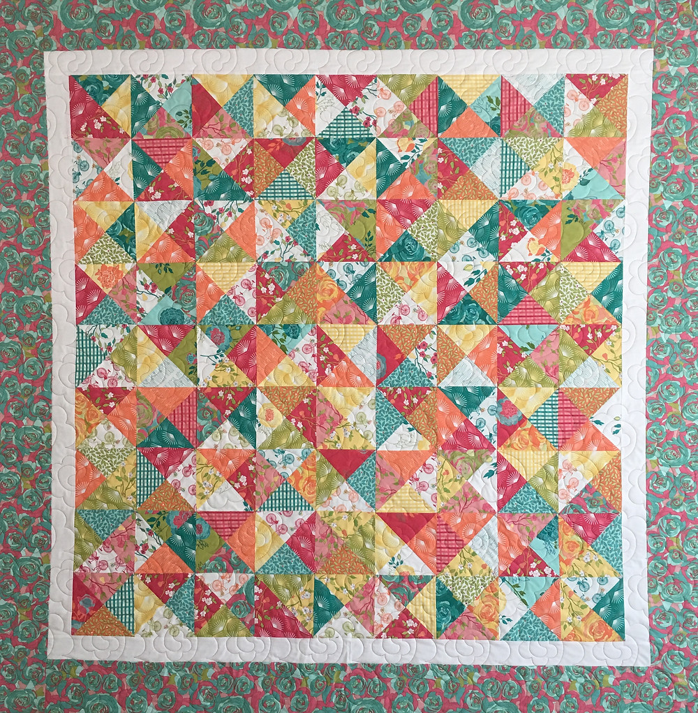 Bright Colorful Florida Quilt by Susan Abram