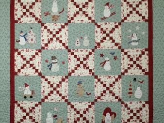 Nancy Thornton Bunny Hill Snowmen Quilt