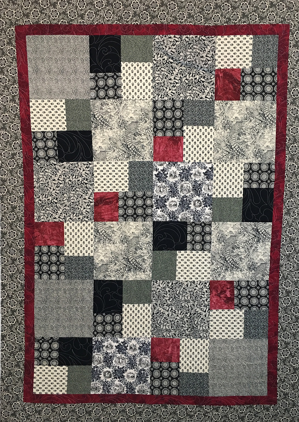 Squares in a Square Quilt by Debbie Seitz