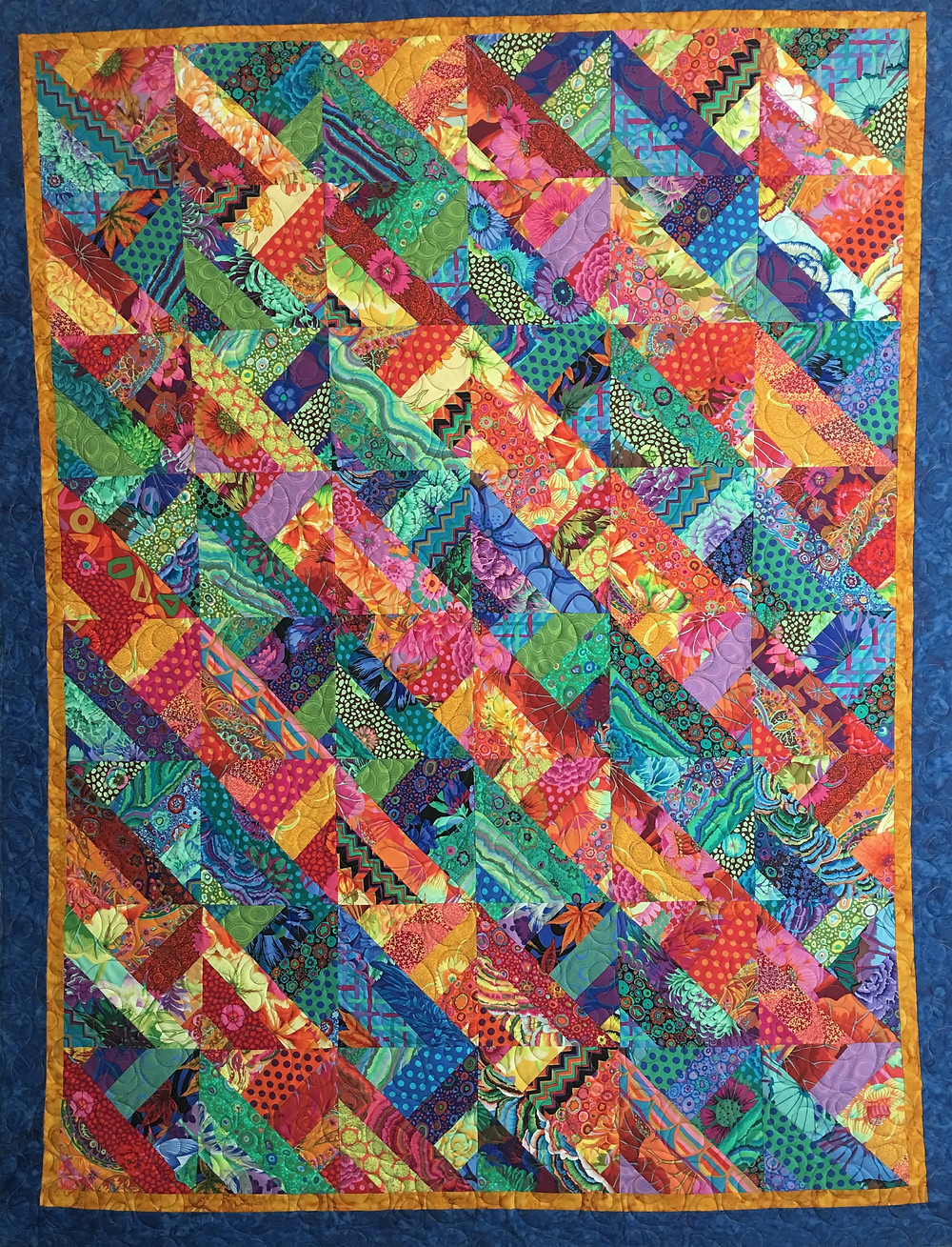 Half Square Triangles Quilt by Valarie Sherriff