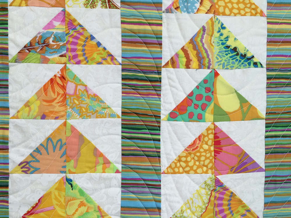 Another closeup of Sue Antle Flying Geese Quilt