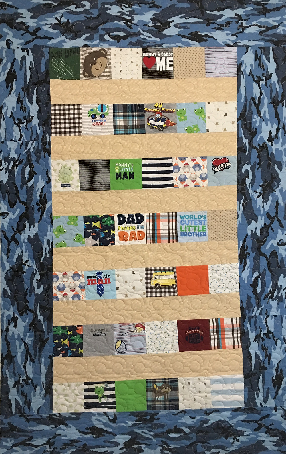 Quilt for a Boy by Lindsay Hall