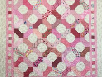 Cheryl Vastola Pink and White Bowtie Quilt