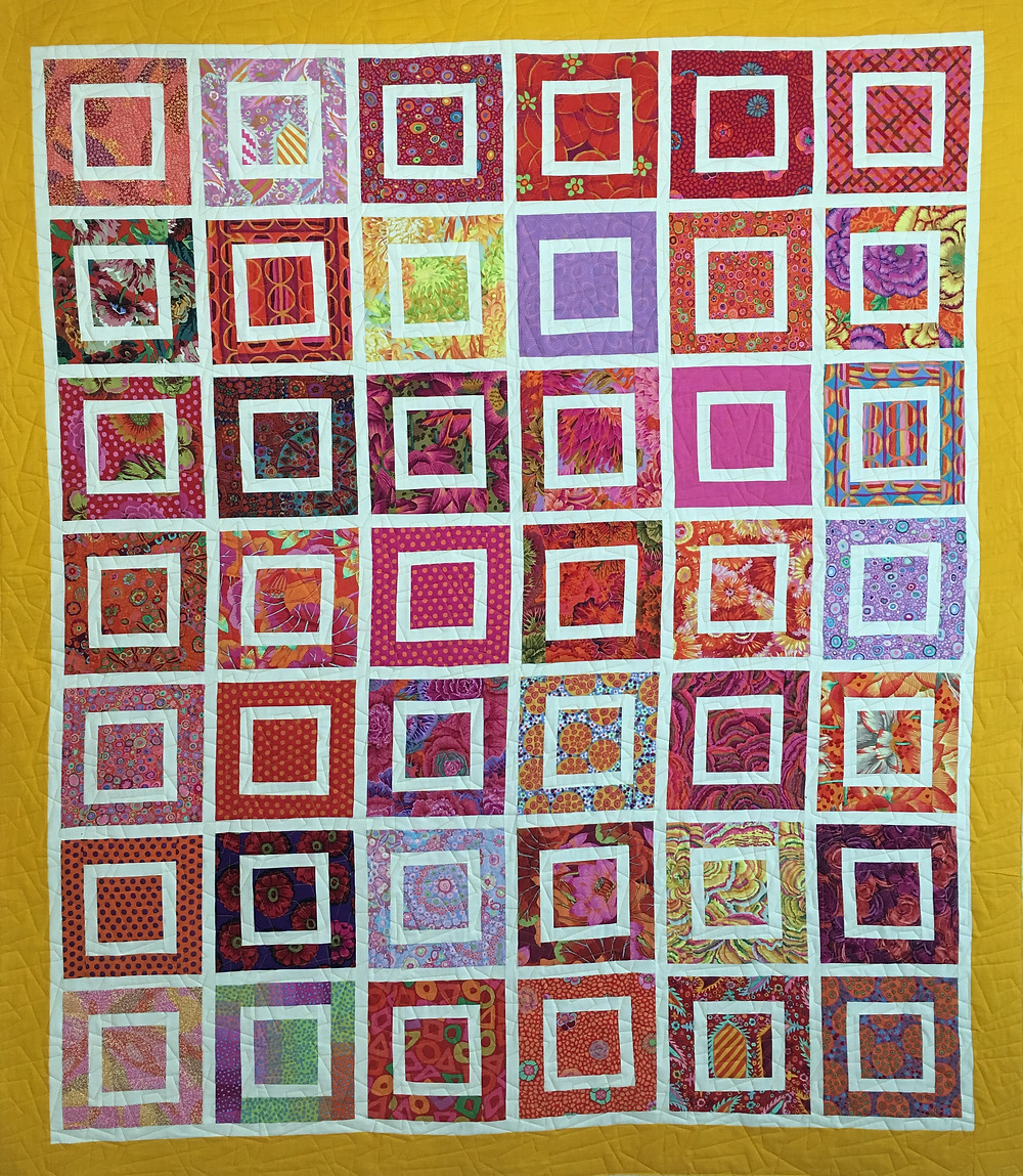 Colorful Squares Quilt by Linda Shields