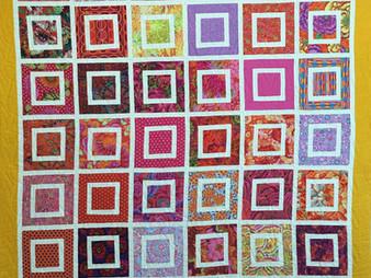 Linda Shields Colorful Squares Quilt