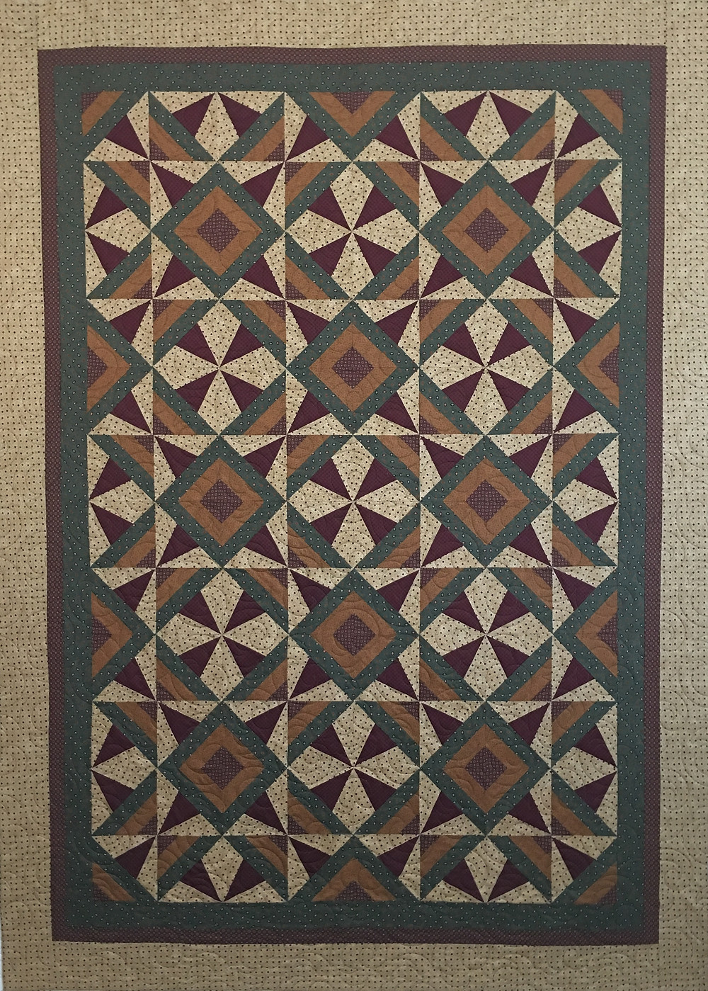 Aline Wild Block in timeless treasures fabric quilt