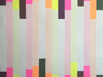 Delfina Guerra Pastel Stripes Modern Quilt
