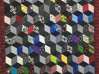 Sandy Benson 3D Squares Quilt