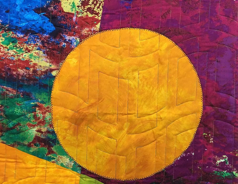 close up Beth Aha Moment Colorwash Quilt