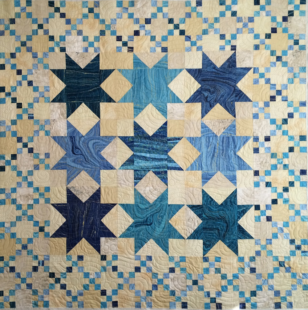 Penny Sea and Sand Quilt