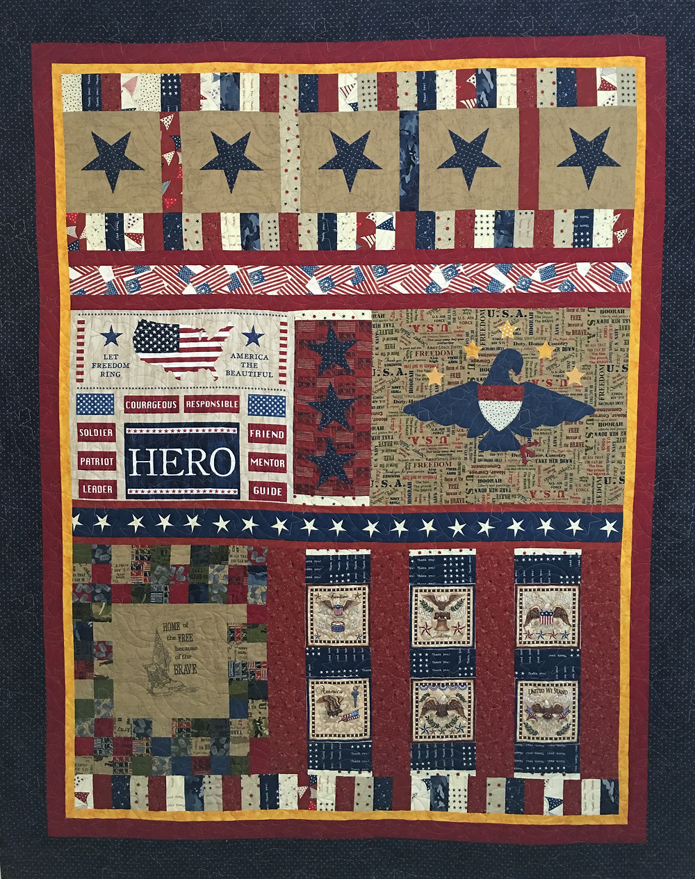 Military Appreciation Quilt by Leanne Strum