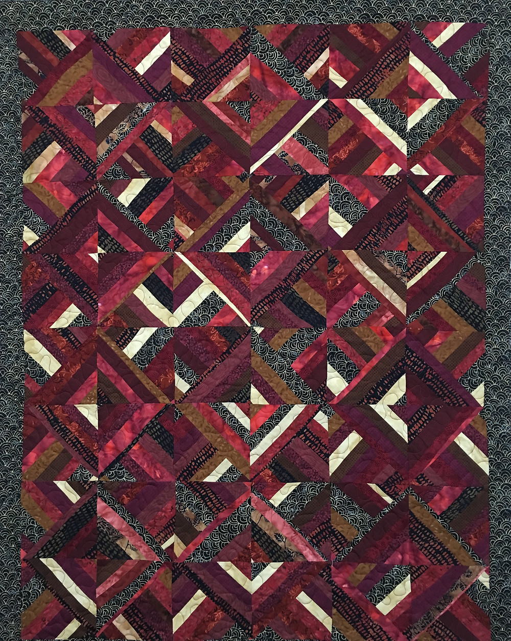 Sue Scrappy Diamond Quilt