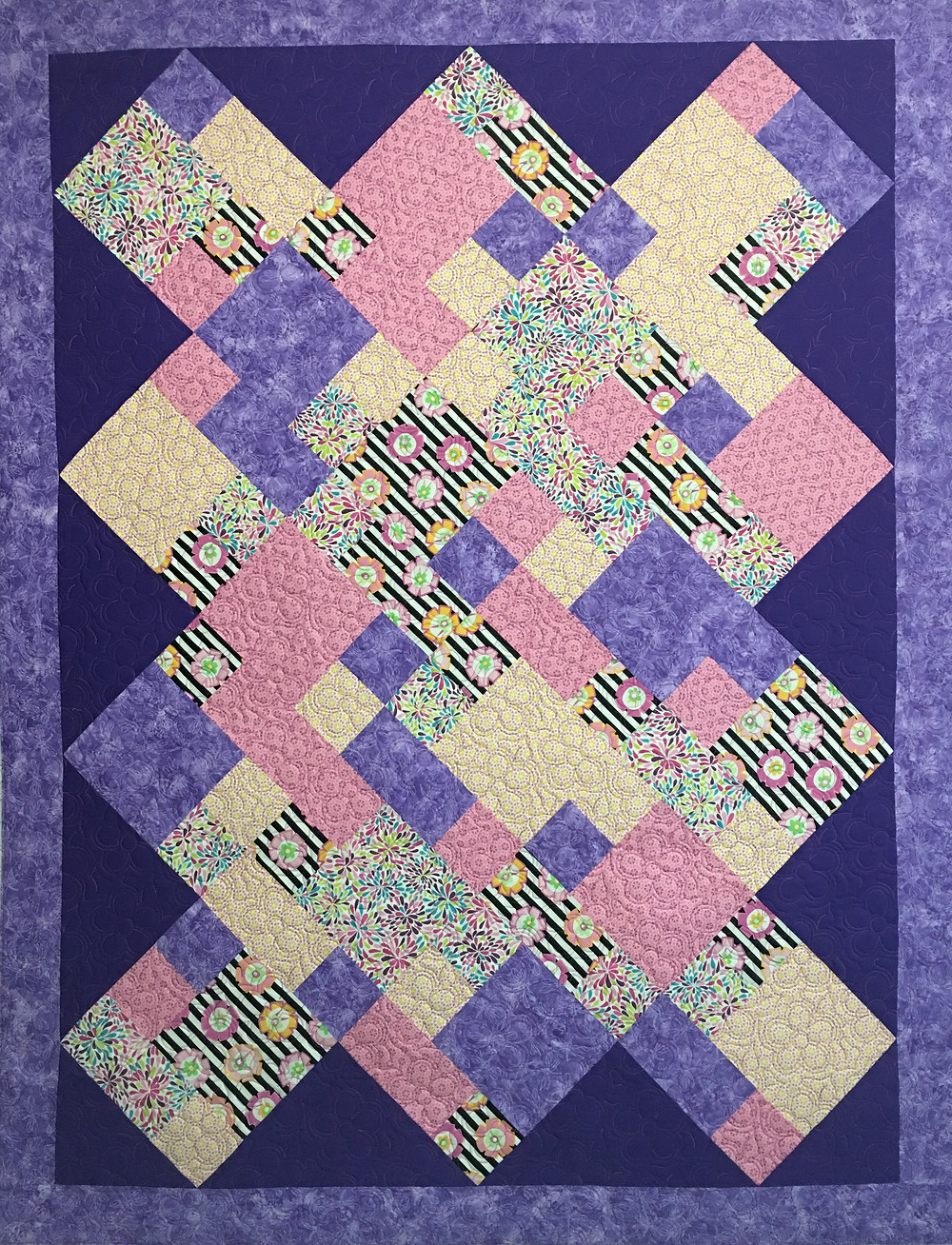 Scrappy Blocks Quilt by Charlene Lancaster