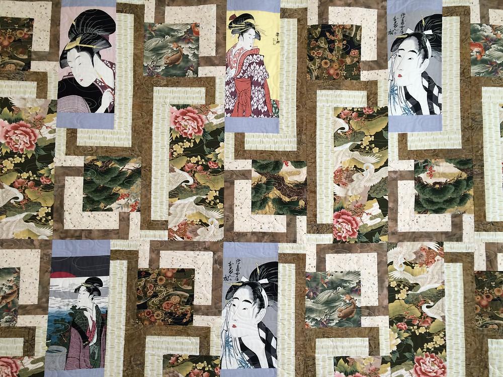 closeup of Anita Mester Oriental Quilt