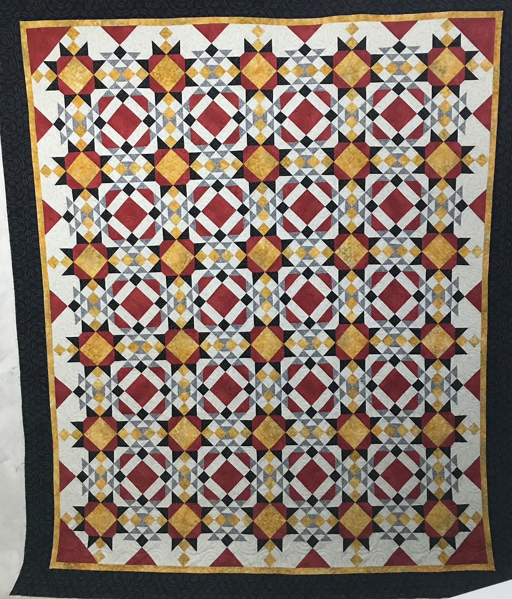 Stars and Diamonds Quilt by Linda Betncourt