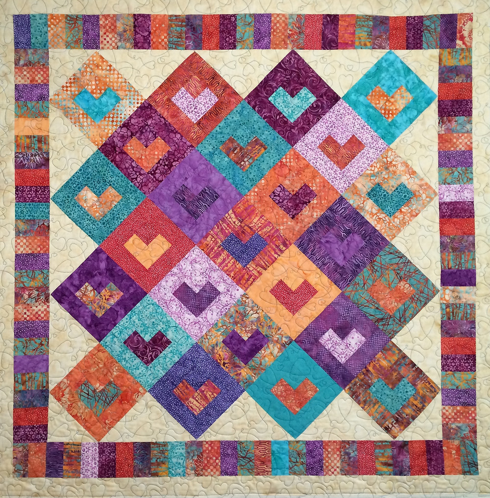 Kathleen Modified Log Cabin Quilt