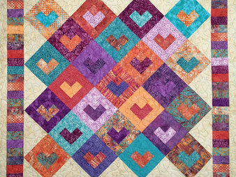 Kathleen Kurdziel Modified Log Cabin Quilt