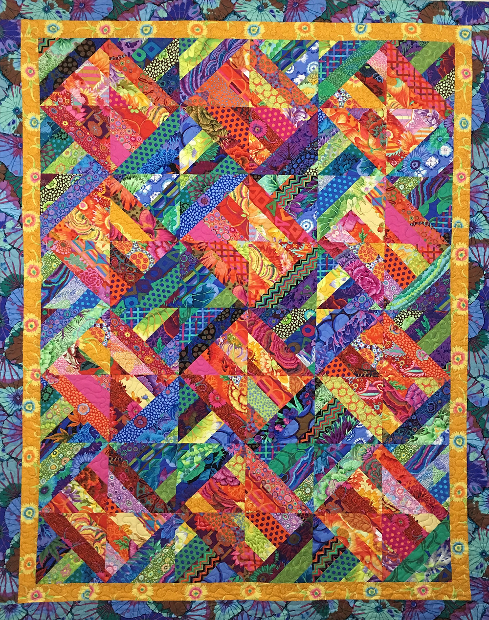 Stripey Half Square Triangles Quilt by Valarie Sherriff
