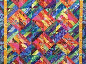 Valarie Sherriff Stripey Half Square Triangles Quilt