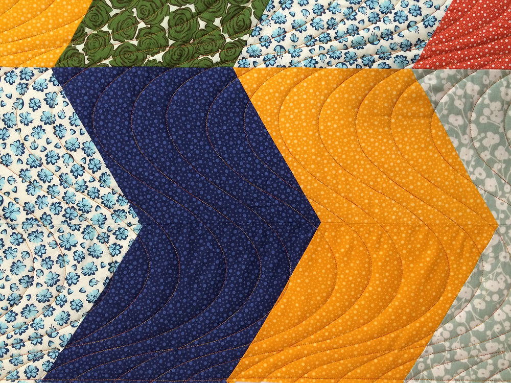 another closeup of Toni Rocha Chevron quilt