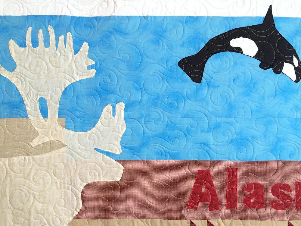 close up of Jamie Bumbalough Alaska Quilt