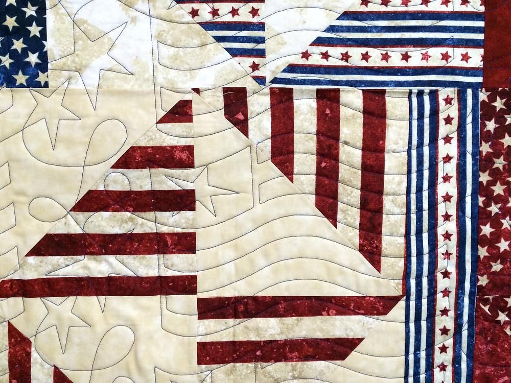 Beth Patriotic quilt