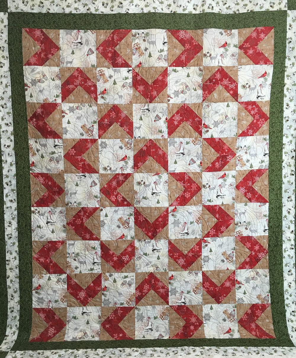 Christmas Quilt for parents by Sue Merritt