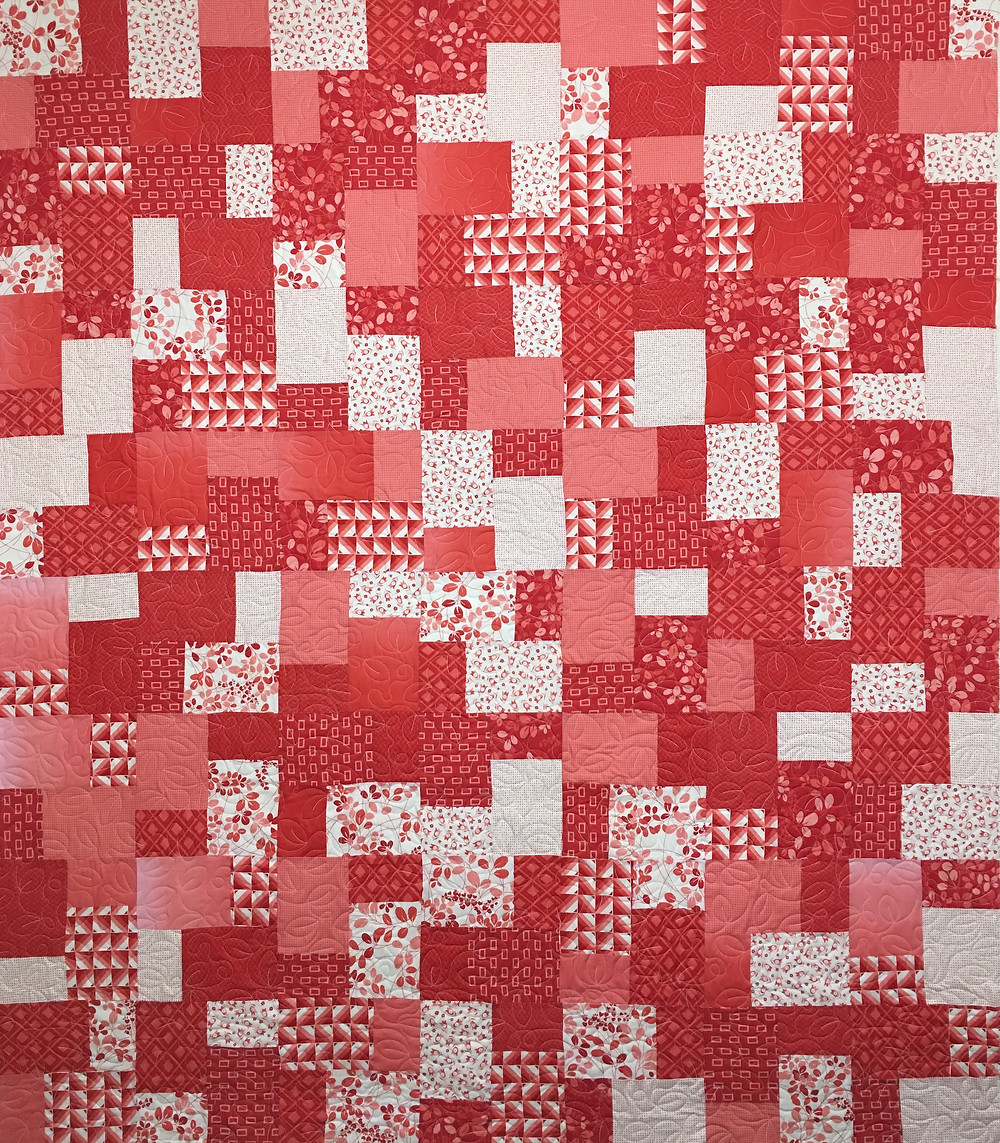 Wendy Red Squares with Leaves