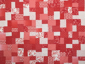 Wendy Bell Squares with Leaves Quilt