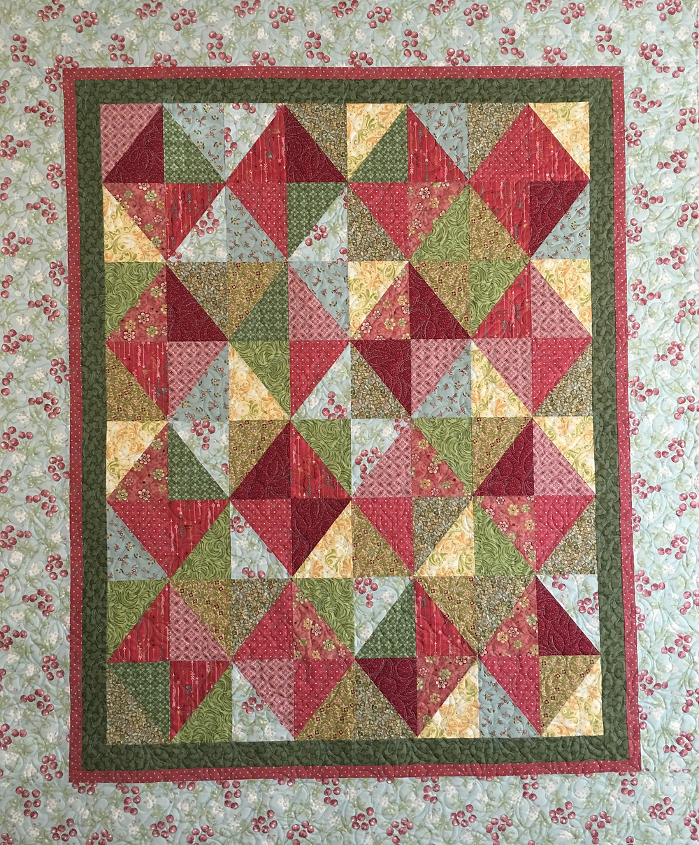 Diamonds in Squares quilt by Lori Beckers