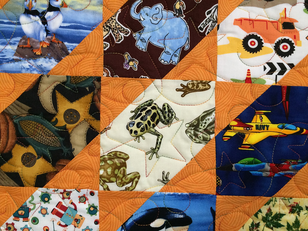 another close up of Cheryl Vastola I Spy Quilt